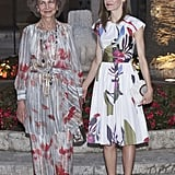 Sofia Opted For a Breezy Pants Set While Letizia Went With a Dress, but They Still Looked Stylishly in Sync
