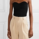 Khaite Lucie Strapless Ribbed-Knit Top