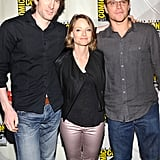 Sharlto Copley, Jodie Foster, and Matt Damon at the San Diego Convention Center.