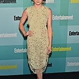 A pale green Alexander Lewis dress with an embroidered layer was just the right level of grown up for the Entertainment Weekly Comic-Con party.