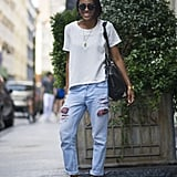 Liven up your distressed jeans with high-octane footwear. Source: Le 21ème   Adam Katz Sinding
