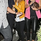 For an October 2012 Madonna concert, the star went bold in a yellow Balenciaga biker jacket.