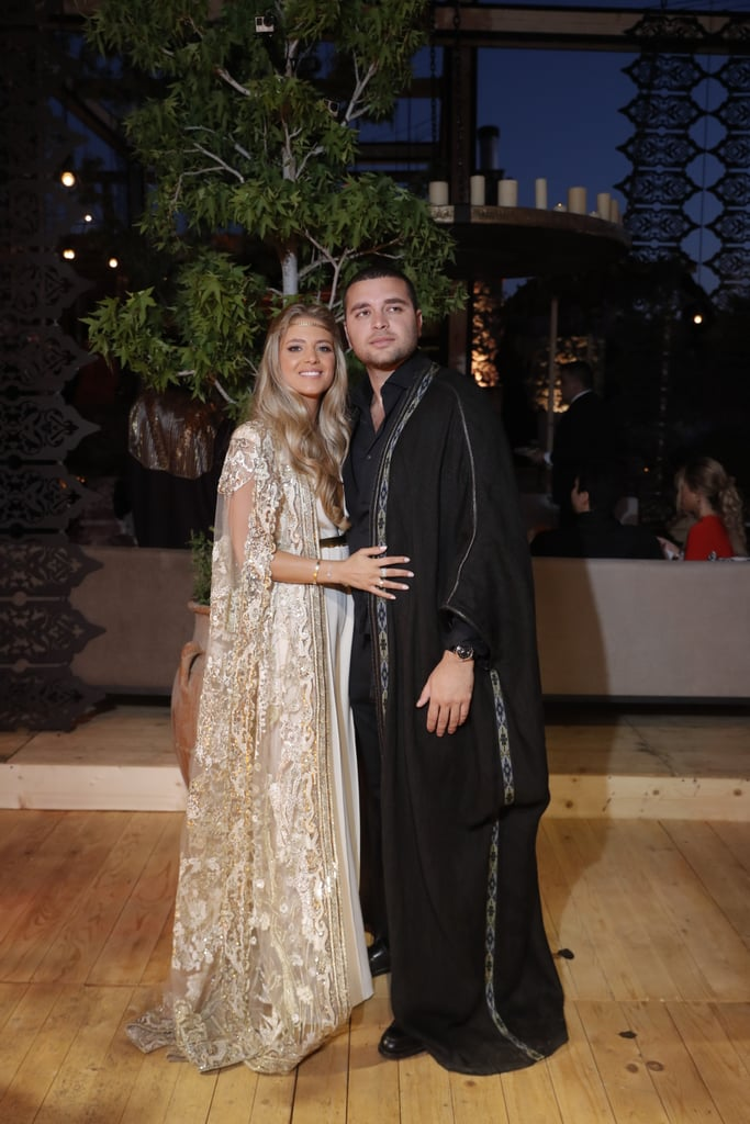 For the Pre-Party, Kika Was Dressed in a Cream Elie Saab Jumpsuit With a Gold Cape