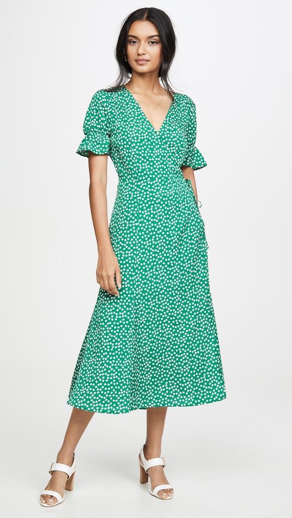 re:named Drew Polka Dot Wrap Dress