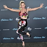 Katy showed off her midriff during a taping of American Idol in May 2019.