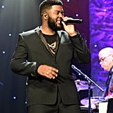 Khalid at Clive Davis's 2020 Pre-Grammy Gala in LA