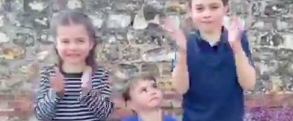 George, Charlotte, and Louis Clap For Coronavirus Volunteers