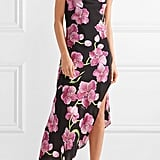 Haney + Jeff Leatham Goldie Asymmetric Floral-Print Silk Crepe Maxi Dress