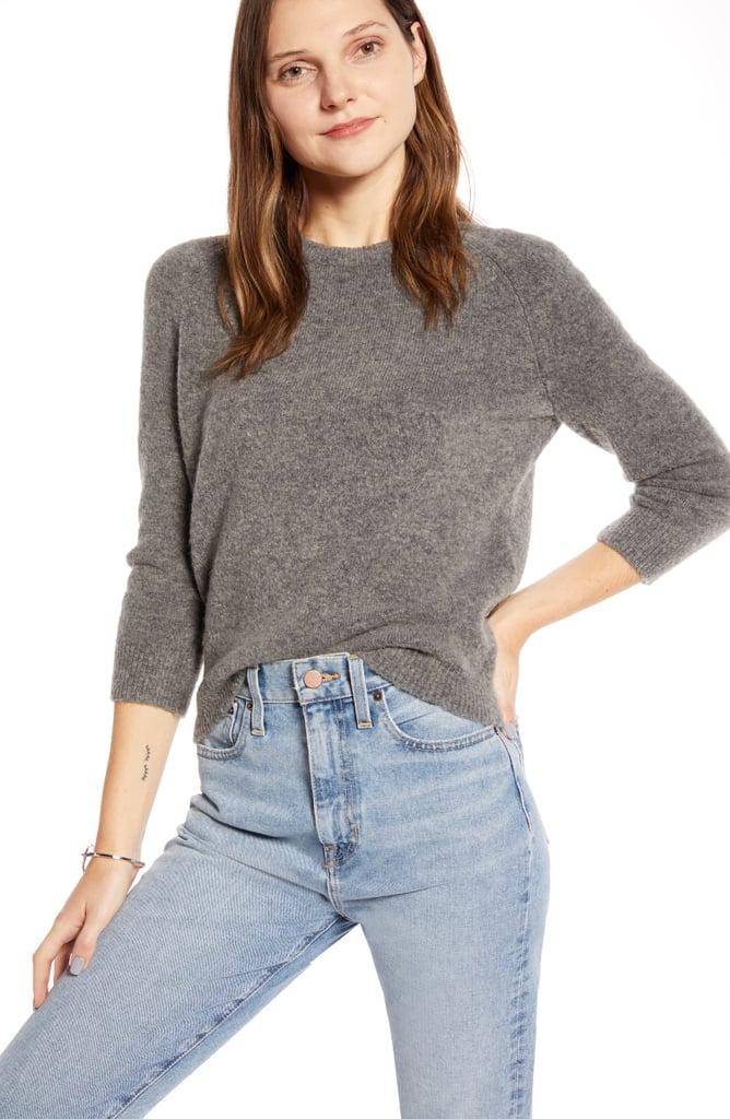 Something Navy Raglan Crewneck Sweater