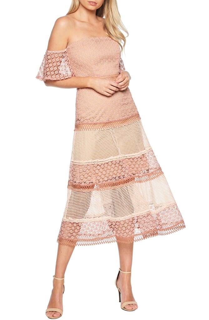 6e1690f6 Bardot Kristen Off-the-Shoulder Lace Midi Dress | Best Nordstrom ...