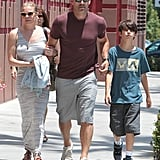 Eddie Cibrian went to the mall in LA with LeAnn Rimes and his son Mason.