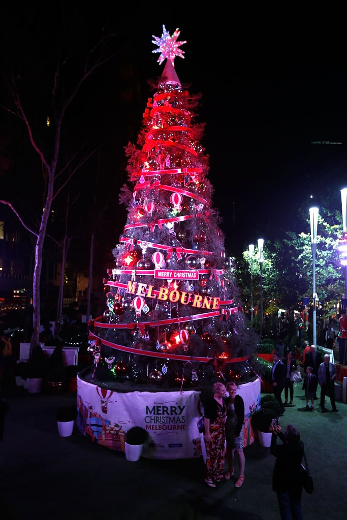 A giant Christmas tree stood in Melbourne, Australia.