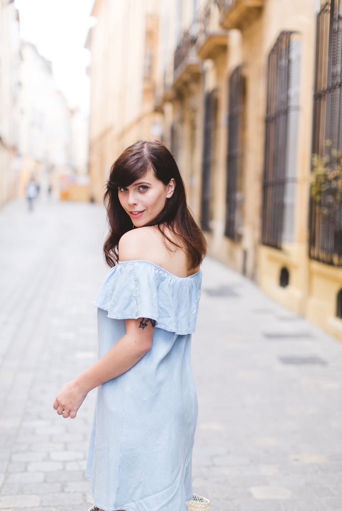 I put the Bardot to the test in three different countries. First up a chambray denim dress in Aix-en-Provence, France.