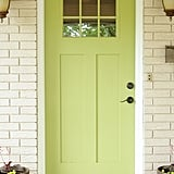 If you have a squeaky or sticky door hinge, spray some WD-40 on it to make it smooth.