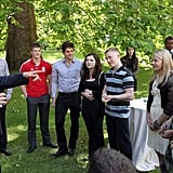 Prince Harry talked with young athletes from the school games.