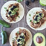 Blackberry Jalapeño Pulled Pork Tacos