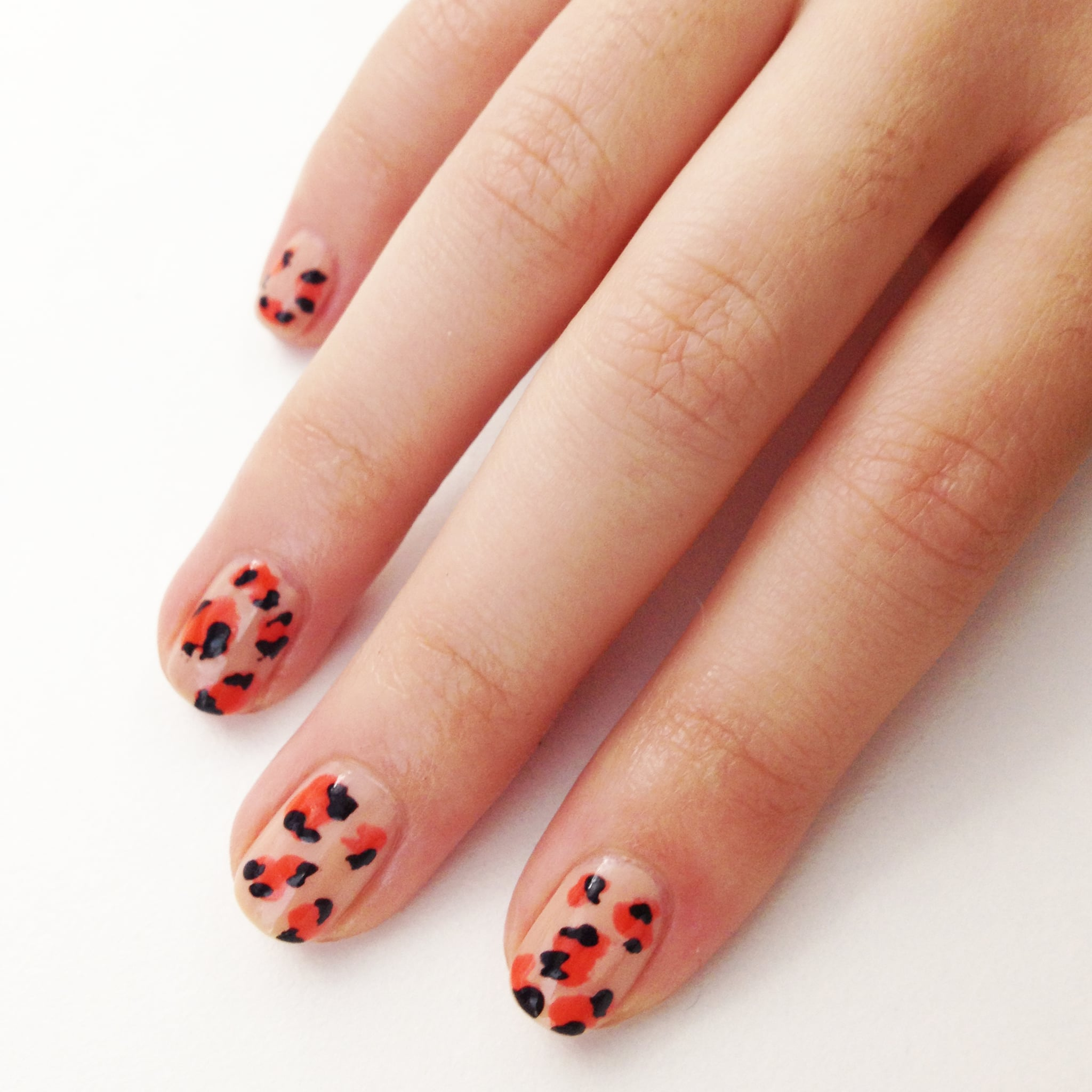 How To Hand Paint Leopard Print Nail Art Popsugar Beauty