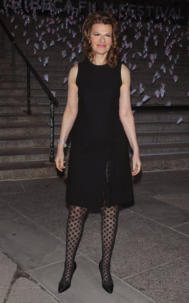 Sandra Bernhard wore a simple black dress to Vanity Fair's Tribeca Film Festival party.
