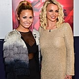 Britney Spears Demi Lovato X Factor Pictures in Oakland