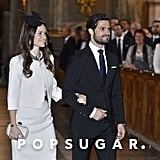 Prince Carl had Sofia by his side for a service in the Royal Chapel in Stockholm in May 2015. At the ceremony, the banns, or proclamation, of their marriage was read.