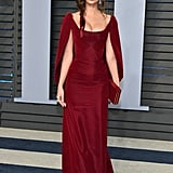 Emily Ratajkowski Red Dress at Oscars Afterparty 2018