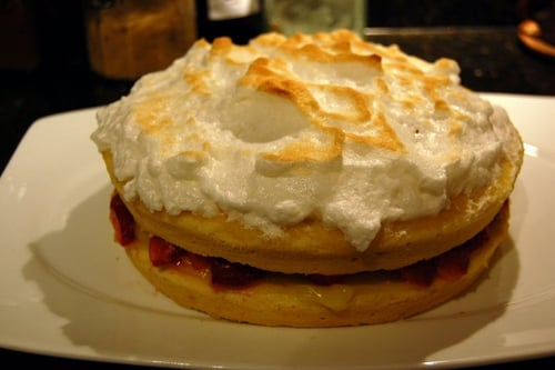 A Berry Lemony Meringue cake