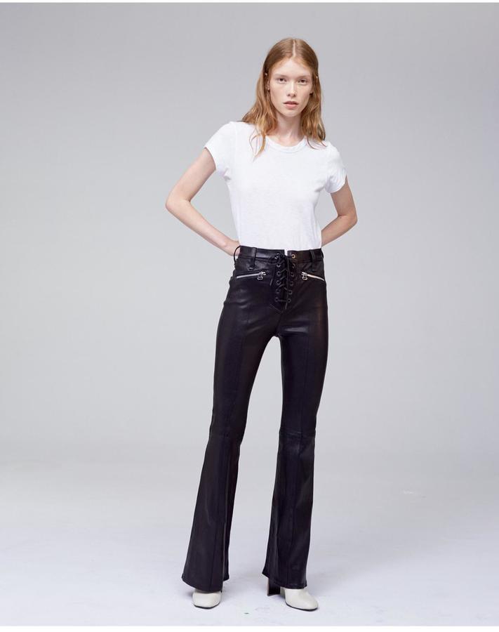 Rag & Bone Lace-Up Leather Bella Pants