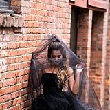 We're Now Considering a Halloween Wedding Thanks to This Bride's Gorgeous Black Gown