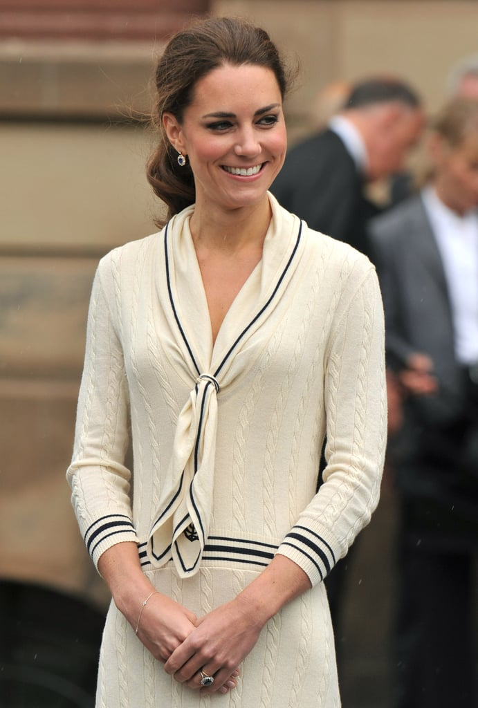 Kate Middleton wore a design by Sarah Burton for Alexander McQueen on July 4.
