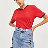Topshop Moto Lace Up Denim Skirt