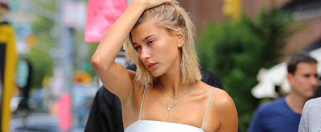 Hailey Baldwin White Minidress