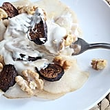 Sweet Ricotta Pear Ribbons With Roasted Honey Walnuts and Figs