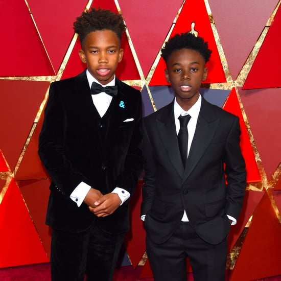 Alex Hibbert and Jaden Piner at School After the Oscars 2017