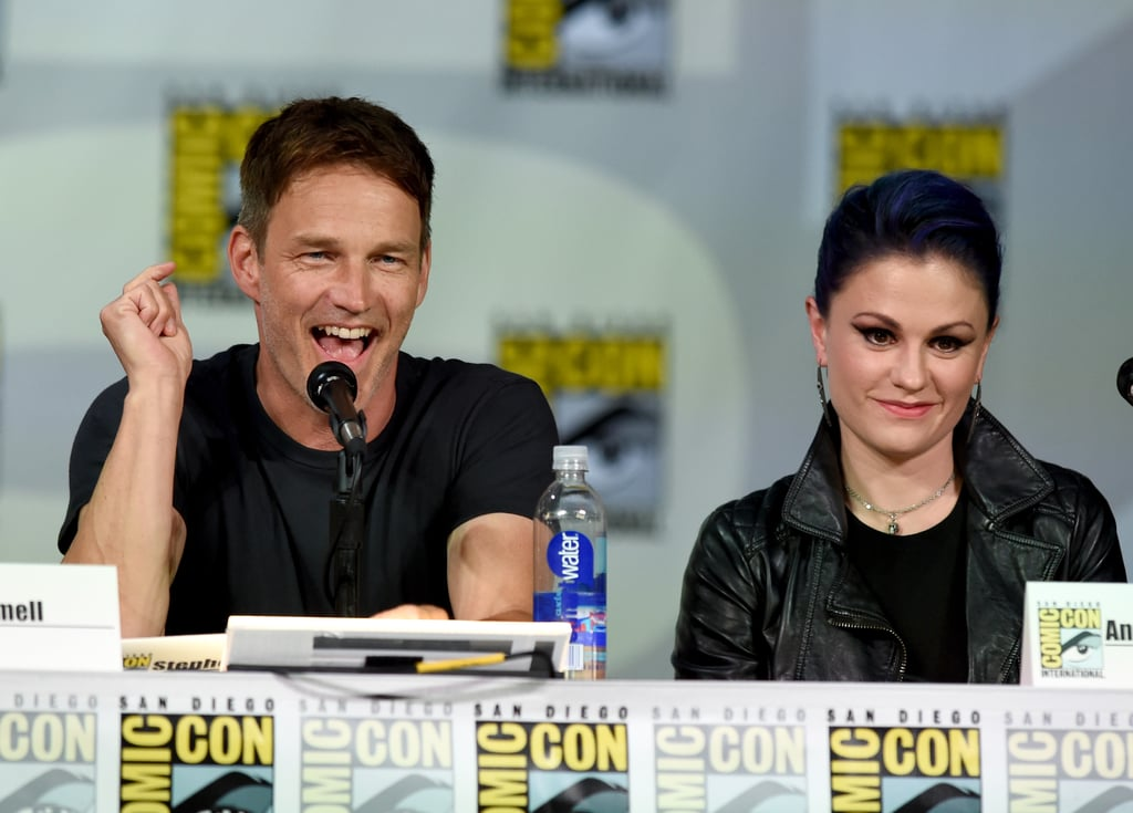 Anna Paquin and Stephen Moyer sat next to each other at the True Blood panel on Saturday.
