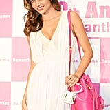 Miranda Kerr attended Samantha Thavasa's 20th anniversary event in Hong Kong on Friday.