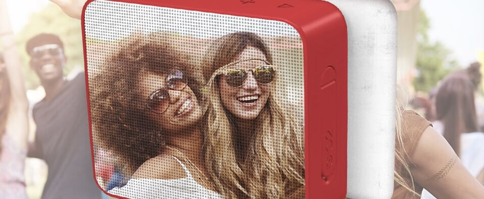 You Can Put Your Own Photos on These Portable Speakers