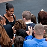 Michelle greeted military families at the White House in 2009.