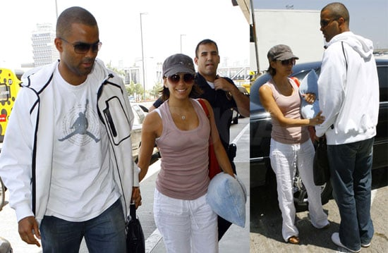Photos of Eva Longoria and Tony Parker at LAX