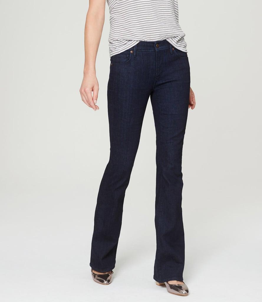 LOFT Flare Jeans in Dark Wash ($80)