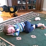 While Playing on the Floor