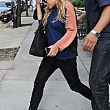 Mary-Kate Olsen does her boho thing for lunch.