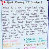 Teacher's Inauguration Day Note to Students Is Exactly What All Kids Need to See
