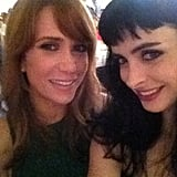 Krysten Ritter posed with one of her girl crushes, Kristen Wiig. Source: Krysten Ritter on WhoSay