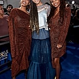 Pictured: Chloe Bailey, Storm Reid, and Halle Bailey