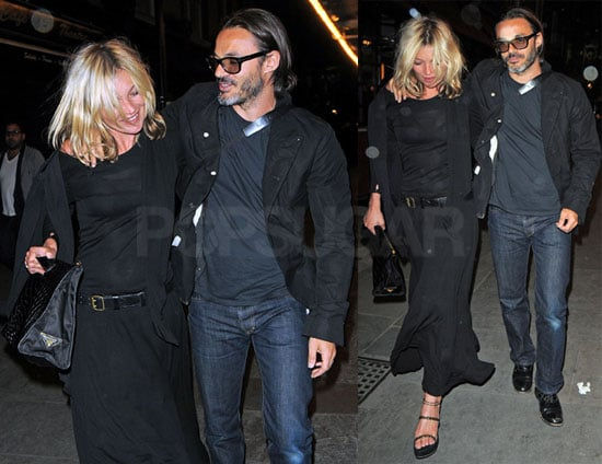 Photos of Kate Moss and Mario Sorrenti Leaving London's J Sheekey