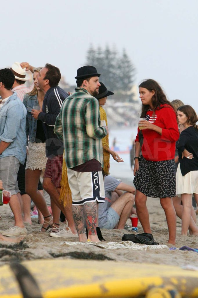 Joel Madden during Fourth of July in Malibu.