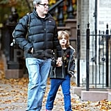 Matthew Broderick and James Wilkie Broderick headed out for an early-morning stroll.