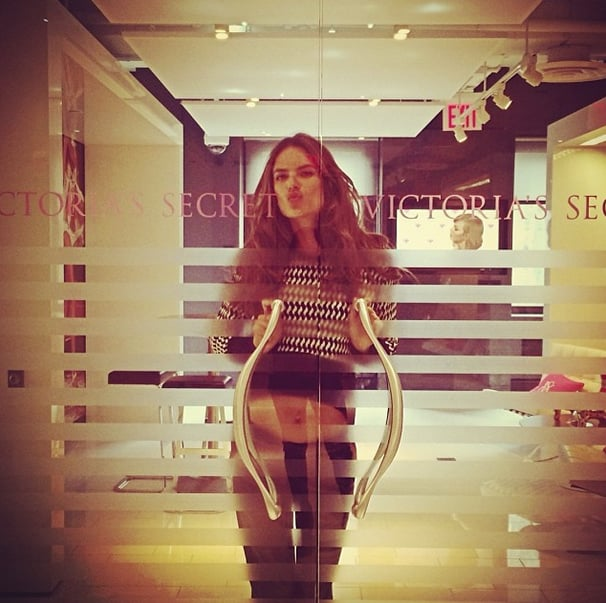 Alessandra Ambrosio stopped by the Victoria's Secret offices in NYC. Source: Instagram user alessandraambrosio