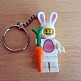 This adorable Easter key ring ($9) is made from a Lego figure dressed as an Easter bunny and a legitimate Lego carrot — and we want it right this minute.