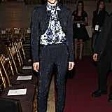 Katharine McPhee looked every bit a star in a ladylike pantsuit front row at Zac Posen's Fall '13 show.